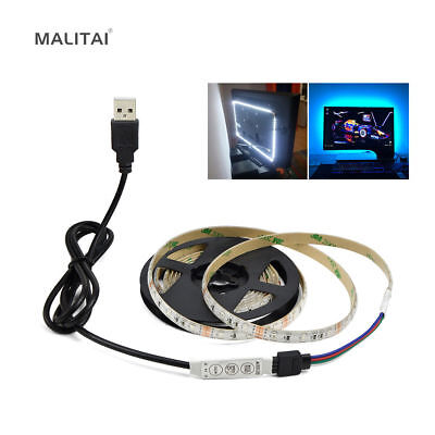 5V USB Cable 2835 LED Strip RGB String lamp TV PC Monitor Backlight Bias light
