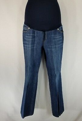 Liz Lange Maternity for Target Size 10 Blue Pull On Jeans Full Belly Panel