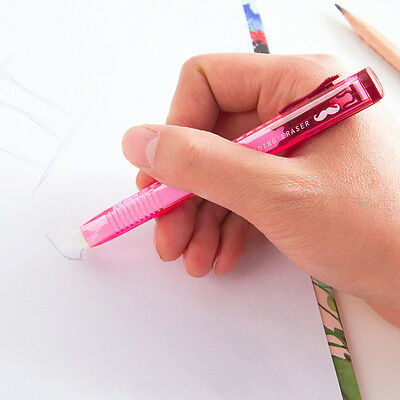 Pencil Eraser in Pen Shaped Barrell Rubber for Artist School Office Pop*  Gift
