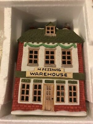 "Dept 56~Heritage Village~Dickens Village Series~""FEZZIWIG'S WAREHOUSE""~65005~NIB"
