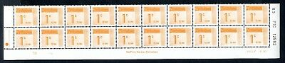 1985 ZIMBABWE Postage Due Bottom 2 ROWS Reprint R3 PTC 12592 1B 1c SG D28 MNH