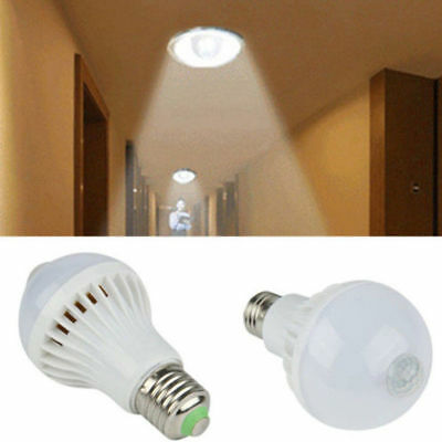 LED PIR Motion Sensor Auto Lamp Bulb Infrared Energy Saving Light White 5/7W/9W