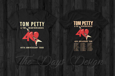 Tom Petty & The Heartbreakers 2017 Vintage 40th Anniversary Tour Concert T Shirt