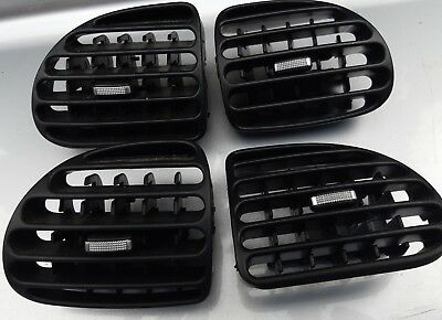 Peugeot 206 206cc chrome dash vents upgrade 1998 to 2009