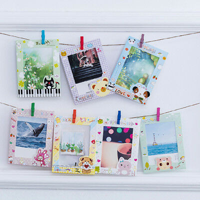 9pcs 6inch Cartoon Picture Frame Baby Handprint Paper Photo Hang On Wall Supplie