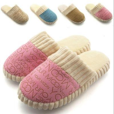 Unisex Womens Home Anti-slip Shoes Soft Warm Cotton Sandal House Indoor Slippers