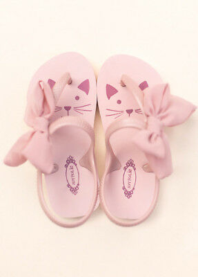 NWT Joyfolie Jujubee Flip Flops Cat Kitty in Blush Girls Size 3Y/4Y