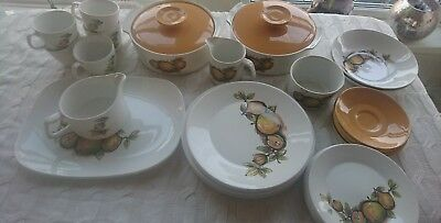 Vintage/ retro J & G Meakin Studio Eden Dinner Set