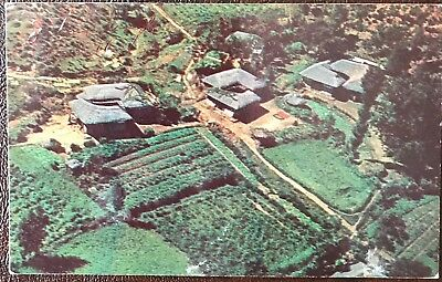 Vintage Postcard Korea From The Air 1955