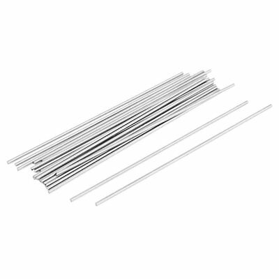 20x Steel Rod Bar Round Stock Lathe Tools 1.5mm Dia 100mm Length Silver A4Z7