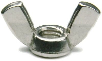 FABORY Wing Nut,1/4-28,Fine Thread Gr 18-8,SS (Stainless), Pack of 1