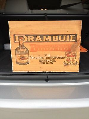 Vtg Drambuie Prince Charles Edwards Liqueur Shipping Wood Crate Box Scotland