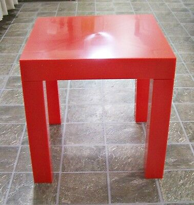 Parsons Table Vintage Nib Mid Century Modern Red Plastic Mod Crawford 39 00 Picclick