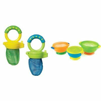 Munchkin Fresh Food Feeder, Colors May Vary, 2 Count And Stay Put Suction Bowl,