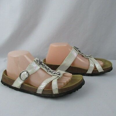 9c7d946c0996 BIRKIS BIRKENSTOCK BETULA White Leather Strap Sandals Womens Size 10 ...