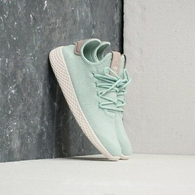 79fdff280db30 New Adidas Women Originals Pharrell Williams Tennis Hu Shoes Ash Green   Db2557
