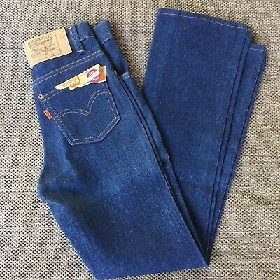 Vintage Levis Student Jeans Size 12 Slim Orange Tab New Saddleman Boot Jeans 24""