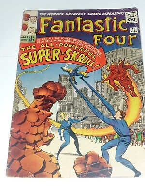 FANTASTIC FOUR 18 VG 1st SUPER SKRULL WHITE PAGES