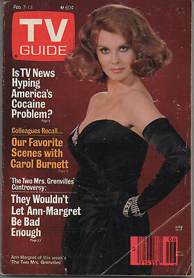 1987 TV Guide Ann-Margret The Two Mrs. Grenvilles Feb. 7-13 NO LABEL