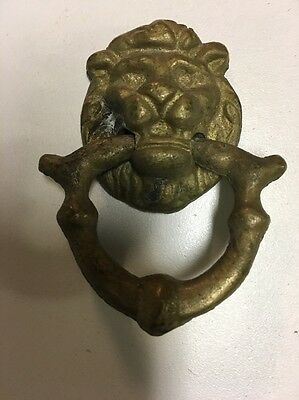 Vintage Cast Brass Lion Head Pulls