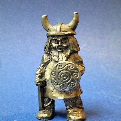 Scandi Pewter - Viking Warrior Figurine Ornament - 6.5cmT - by TPB Tinn Norway