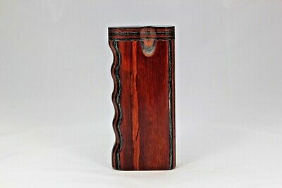 "4"" Dugout One Hitter Charbolo Diamond Wood Twist Top Within Cigaretteh"