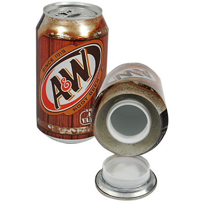 New Stash Can A&W Soda Can Hidden Diversion HOME SAFE Hide Cash Jewelry Secret