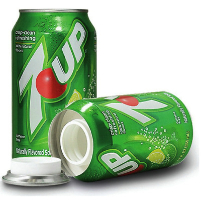 New Stash Can 7 UP Soda Can Hidden Diversion HOME SAFE Hide Cash Jewelry Secret