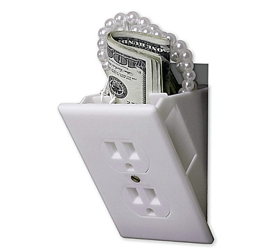 Stash Can Wall Outlet Diversion HOME SAFE Hide Cash Jewelry Secret