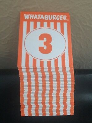 WHATABURGER Restaurant Table Tent Numbers - Sold Individually