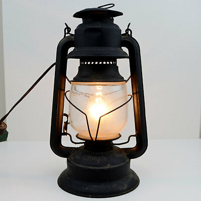 E T Wright & Co Lantern Lamp Light Converted To Electric Black