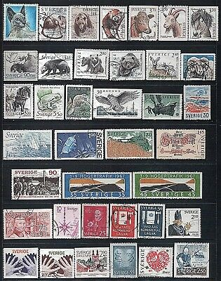 SWEDEN - Mixed lot of 38 Stamps, most Good - Fine Used, LH