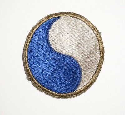 29th Infantry Division Black Back Theater Made Patch WWII US Army P7702