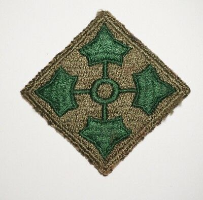 4th Infantry Division Patch WWII US Army P7709