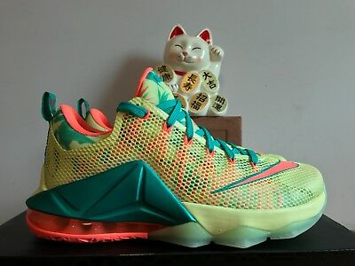 separation shoes f4c79 940f1 Nike Lebron XII 12 Low PRM Lebronald Palmer Lime Mango New Size 8  776652-