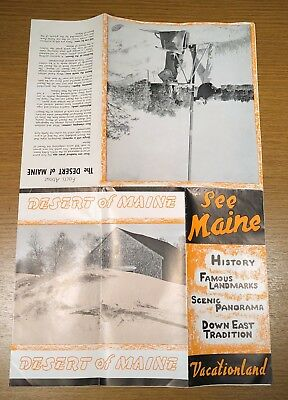 Scenic Maine Travel Brochure Guide Map History Landmarks Vacation