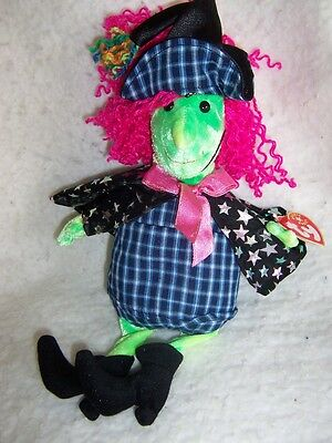 """2001 TY Beanie Babies- 10"""" Scary the Witch, Retired!"""
