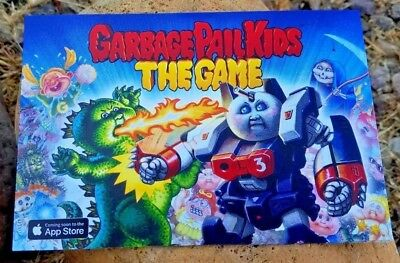 2018 San Diego Comic Con Exclusive Garbage Pail Kids The Game Promo Postcard Le!