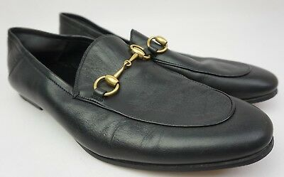 54b257922 Gucci Brixton Convertible Bit Loafer Mens Black Leather Shoes Size 8.5 G/  9.5 US