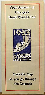 1933 Century of Progress Chicago Illinois World's Fair map Pfaudler Co brochure
