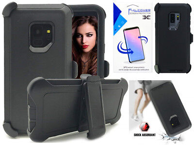 For Samsung Galaxy S9 S9+ Shockproof Resist Defender Case  (Clip Fit Otterbox) B