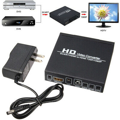 SCART/HDMI to HDMI 720P 1080P HD Video Converter Adapter PAL/NTSC Video Scaler