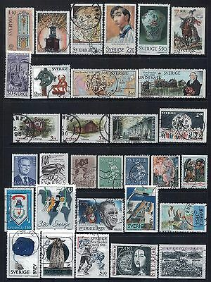 SWEDEN - Mixed lot of 31 Stamps, most Good - Fine Used, LH