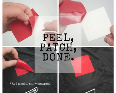 "Black Fabric Repair Patch - Black 2.5"" x 2.5"" - 5 Pack"