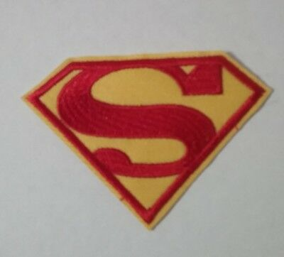 SUPERMAN LOGO Iron on / Sew on Patch Embroidered Badge Motif Comic Movie 8x6cm