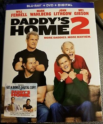 Daddy's Home 2 - movie DVD Blu-ray + digital download with bonus features NEW