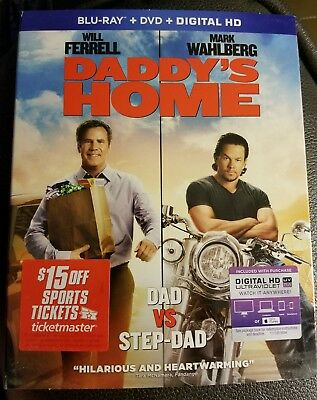 Daddy's Home - movie DVD Blu-ray + digital download with bonus features NEW