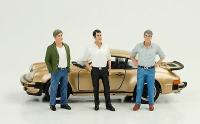 70`S 70er Man Figurine 3 x Figurines Set 1:24 American Diorama No Car New