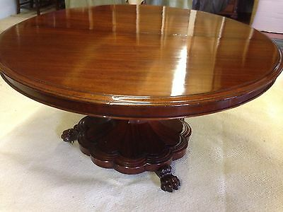 Beautiful Antique William Iv Cuban Mahogany Circular Table, Pro French Polished
