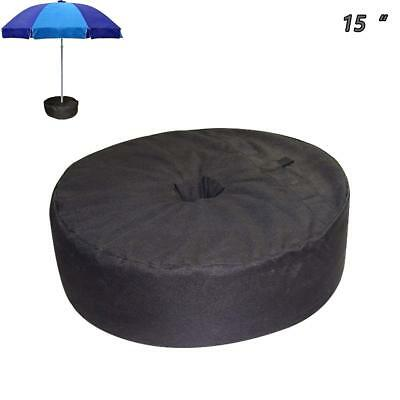 Weight Sand Bag For Umbrella Base Stand Round For Outdoor Patios 50 lbs Durable